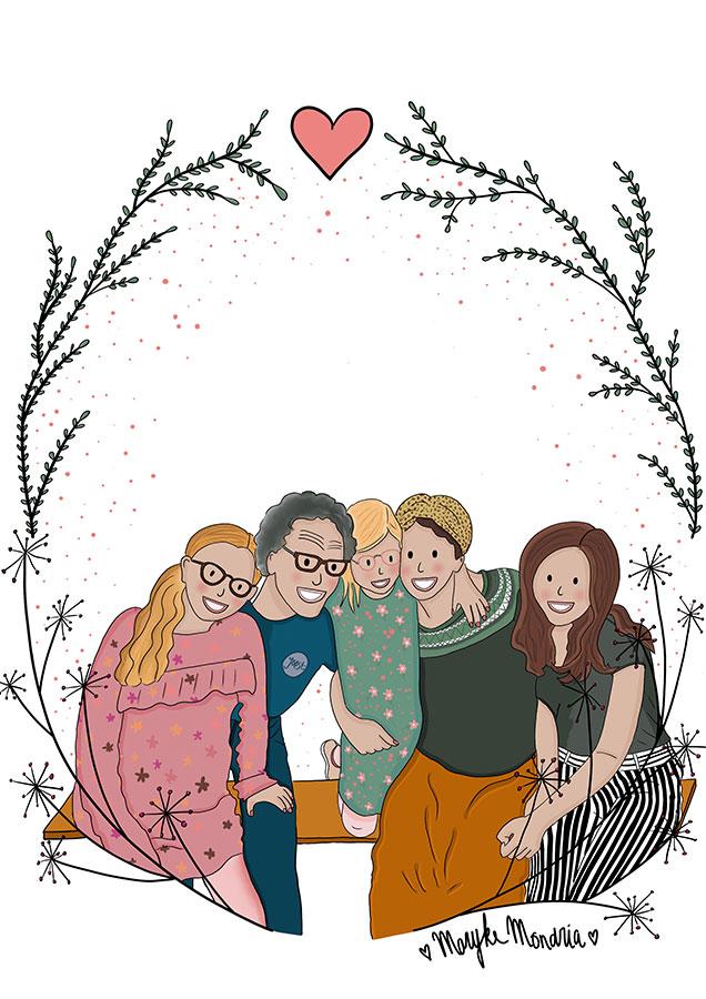 Getekend-Familieportret-Tessa-Kortenbach