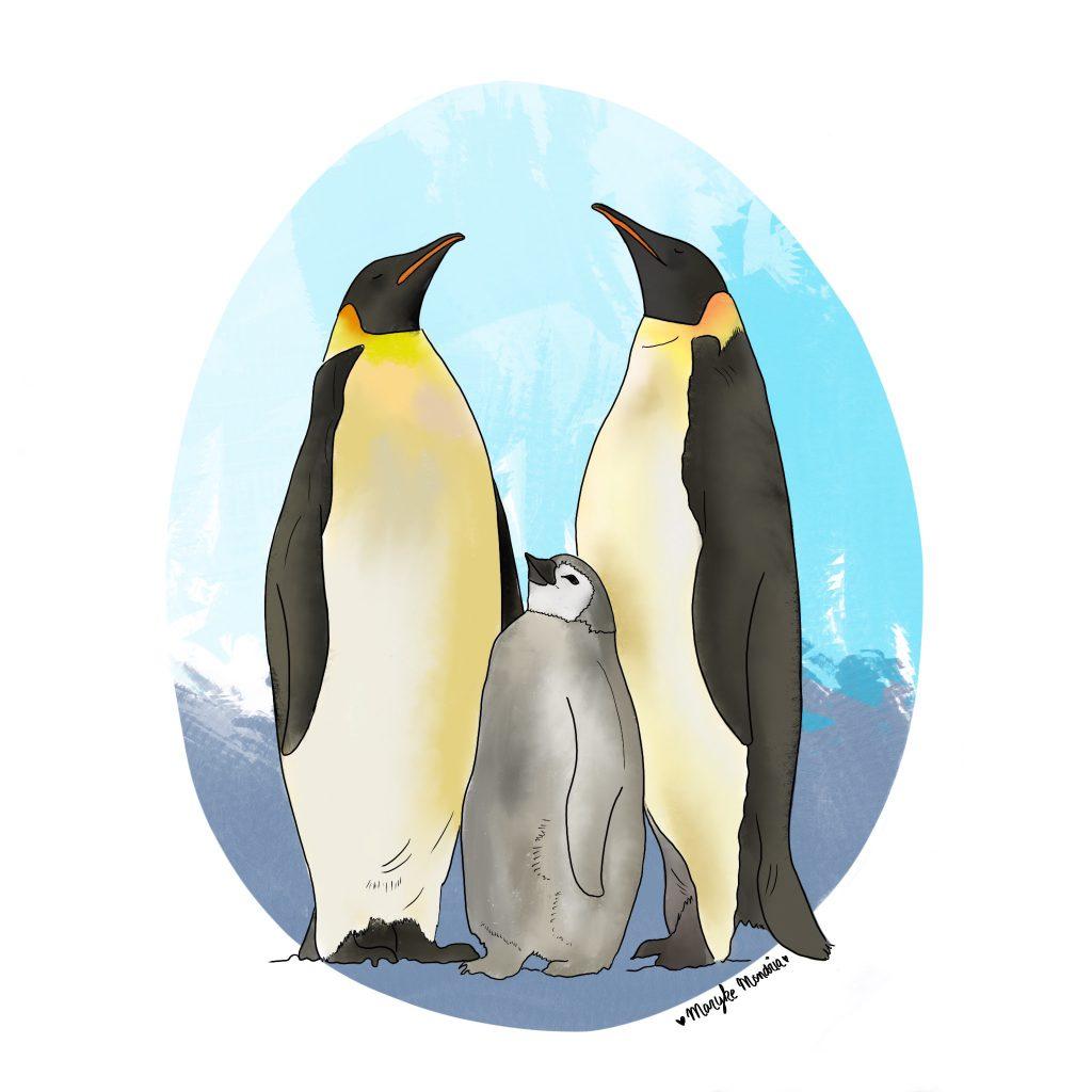 Illustratie MetMaryke pinguins